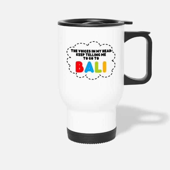 Travel To Bali Mugs & Drinkware - GO TO BALI - Travel Mug white