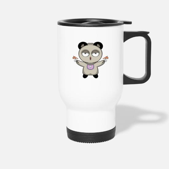 Panda Mugs & Drinkware - Panda - Travel Mug white