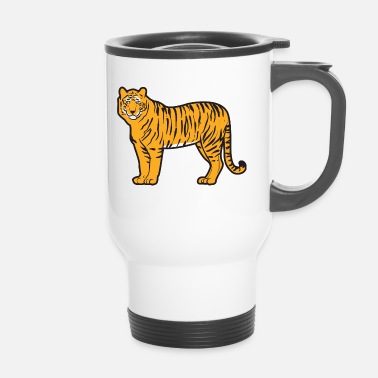 Mature Mature handsome and magnificent tiger - Travel Mug