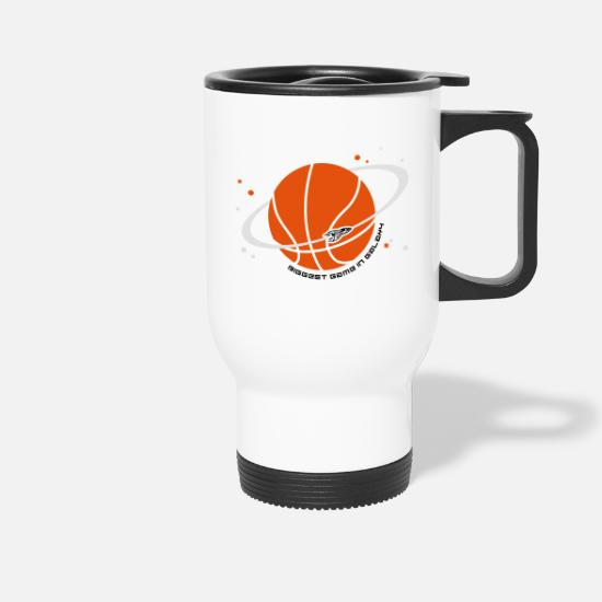 Ball Sport Mugs & Drinkware - Planet Sport Basketball - Travel Mug white