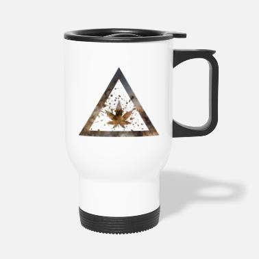 Galaxy Weed Marijuana Triangle with Splashes - Travel Mug