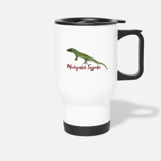 Reptile Mugs & Drinkware - Madagascar day gecko - Travel Mug white