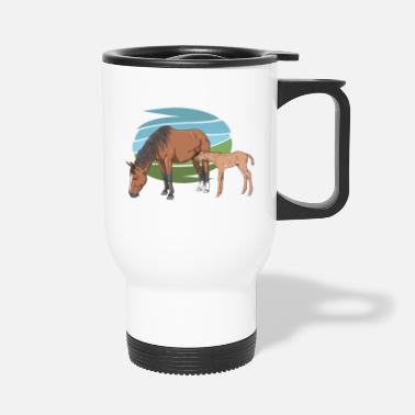 Mare Mare and Foal - Travel Mug