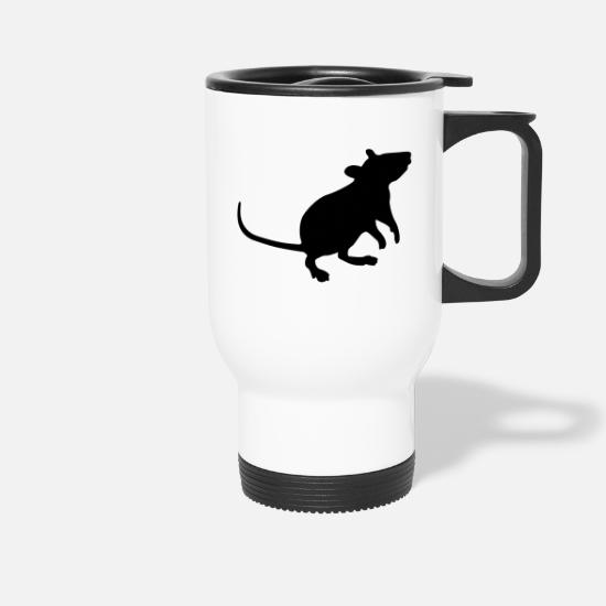 Mouse Mugs & Drinkware - little mouse - Travel Mug white
