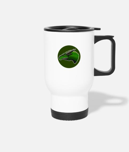 Dragon Head Mugs & Drinkware - Dragon head - Travel Mug white