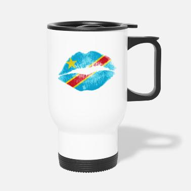 Democrat Kiss (Democratic Republic of Congo) - Travel Mug