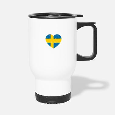 Swedish Swedish heart - Travel Mug