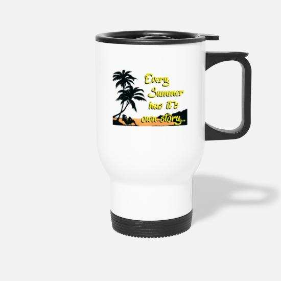 Backpacker Mugs & Drinkware - summer memory holiday Great summer memories - Travel Mug white