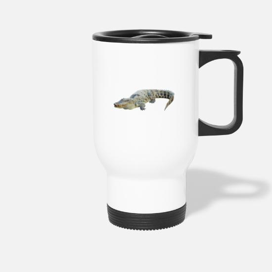 Crocodile Mugs & Drinkware - Aligator - Travel Mug white