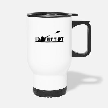 Shotgun Sniper target clay pigeon sport chasing sayings - Travel Mug