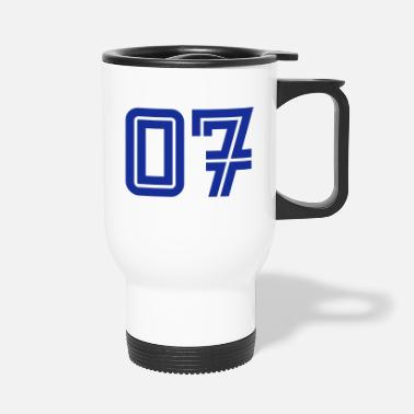 7 College Numbers, Nummern, Sports Numbers, 07 - Travel Mug