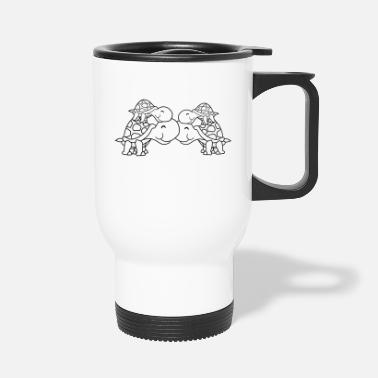 Parents siblings 2 friends team couple couple love brother - Travel Mug