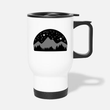 Cielo Mountains, Forest and Starry Night Sky, 3 colours - Taza termo