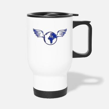 Ecology earth with wings - Travel Mug