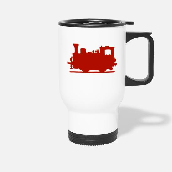 Vintage Car Mugs & Drinkware - Vintage Steam Train - Travel Mug white