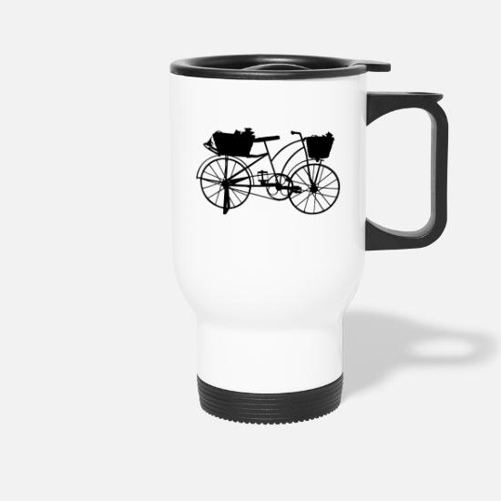 Hazard Mugs & Drinkware - bike, ride, hobby, sport - Travel Mug white