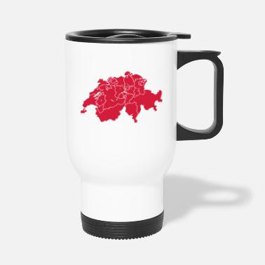 Canton Schweitz with cantons - Travel Mug