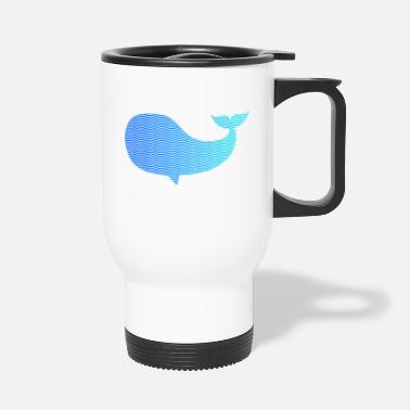 Wale wale from waves and sea - Travel Mug
