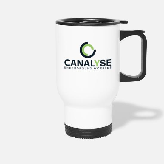 Canalyse Mugs et récipients - CanalyseLogoUW - Mug isotherme blanc