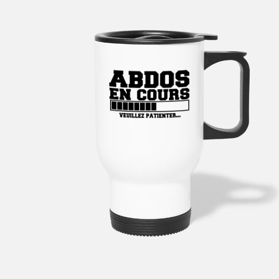 Cool Mugs et récipients - abdos(veuillez patienter),humour,citations - Mug isotherme blanc
