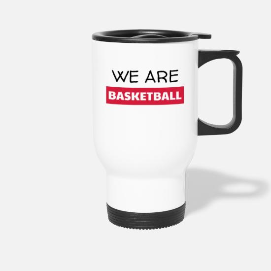 Ball Mugs & Drinkware - Basketball - Basket ball - Basket-ball - Baskette - Travel Mug white