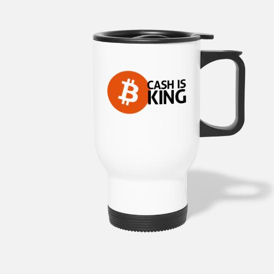 Money Mugs & Drinkware - bitcoin cash - Travel Mug white