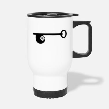 Ball 8 Keyword billiard ball 8 - Travel Mug