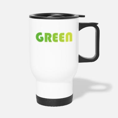 Green GREEN - gradient green - Travel Mug