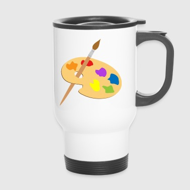Palette of paint and brush - Travel Mug