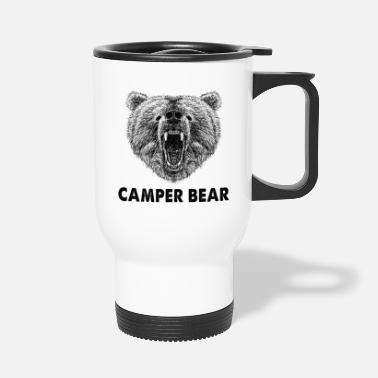Cool Wild Grizzly Camper Bear grappige geschenken. Camping - Thermosbeker
