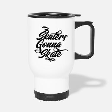 Halfpipe Skaters Skateboard Skating Skater Halfpipe - Travel Mug