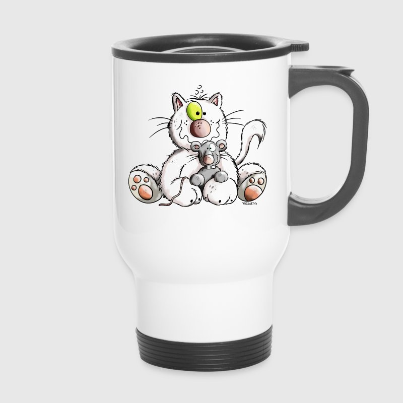 Cute Cat and Mouse - Mug thermos