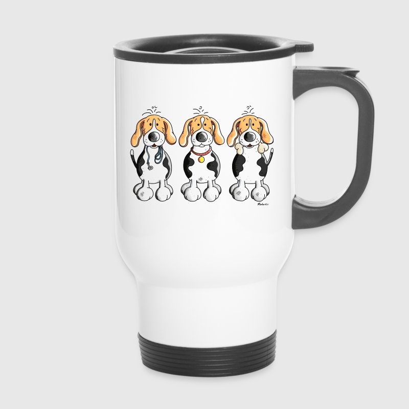 Three Funny Beagle  - Travel Mug