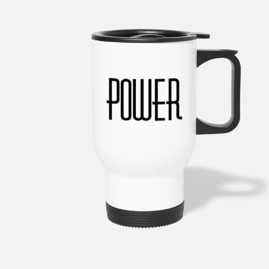 Strong Mugs & Drinkware - power - Travel Mug white