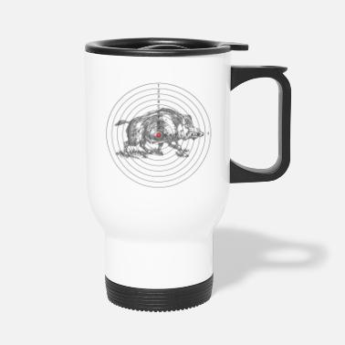 Hunting target with a wild boar - Travel Mug