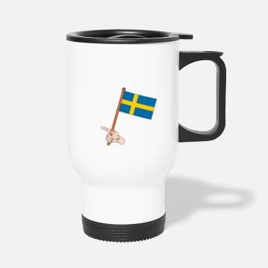 Swedish Swedish flag - Travel Mug