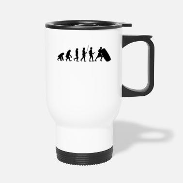 Cross Fit Evolución del atleta regalo de la camiseta Cross Fit - Taza termo
