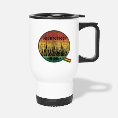 Ragga burning raggae - Travel Mug