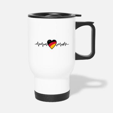 GERMANY, GERMANY HEARTBEAT BY SUBGIRL - Travel Mug