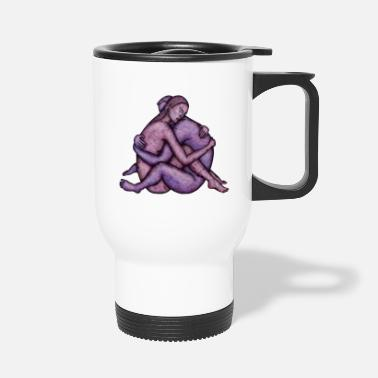 Couples Couple embracing - Travel Mug