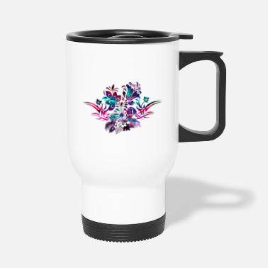 Hibiscus Flower Hibiscus flowers Tribal - Travel Mug