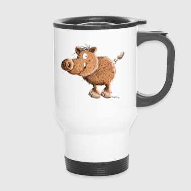 Happy sanglier - sangliers - dessin animé - Mug thermos