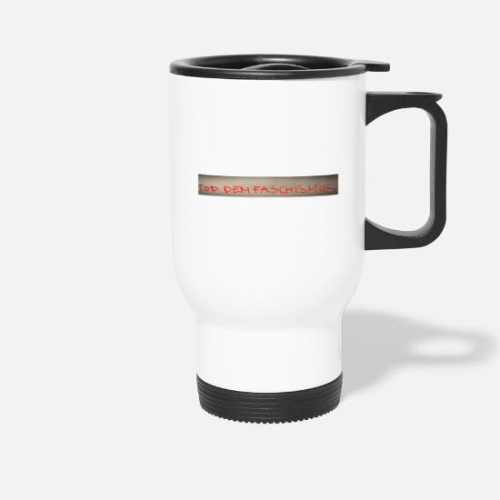 Red Mugs & Drinkware - saying - Travel Mug white