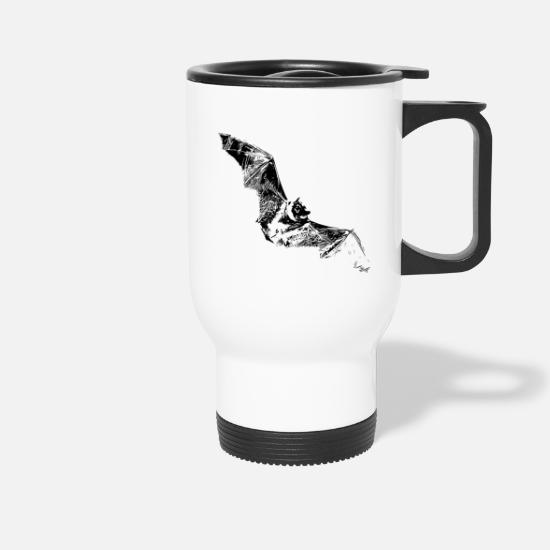 Birthday Mugs & Drinkware - bat - Travel Mug white