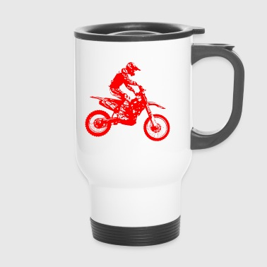 enduro red - Travel Mug