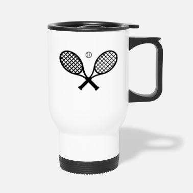 Tennis Ball Tennis racket and tennis ball - Travel Mug