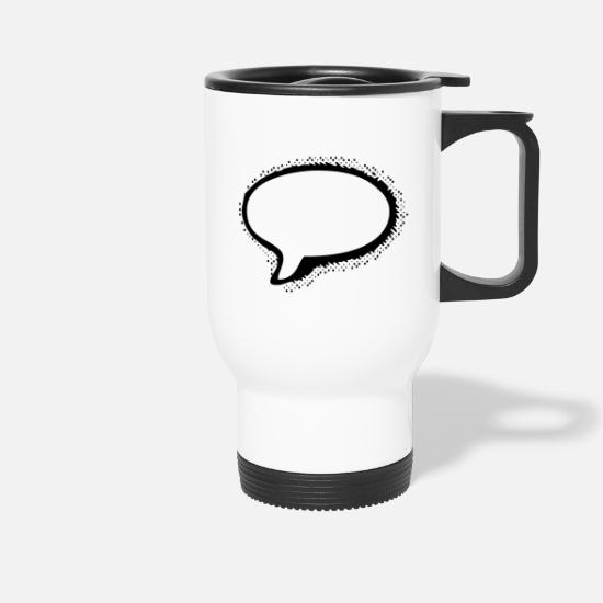Speech Balloon Mugs & Drinkware - Speech Bubble - Travel Mug white