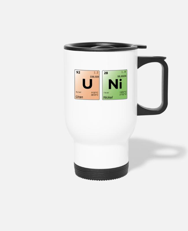 Periodic Table Mugs & Drinkware - uni perio - Travel Mug white