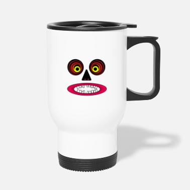 Crook Monkey face with crooked teeth in cartoon look - Travel Mug