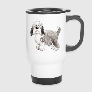 El Collie barbudo - Taza termo